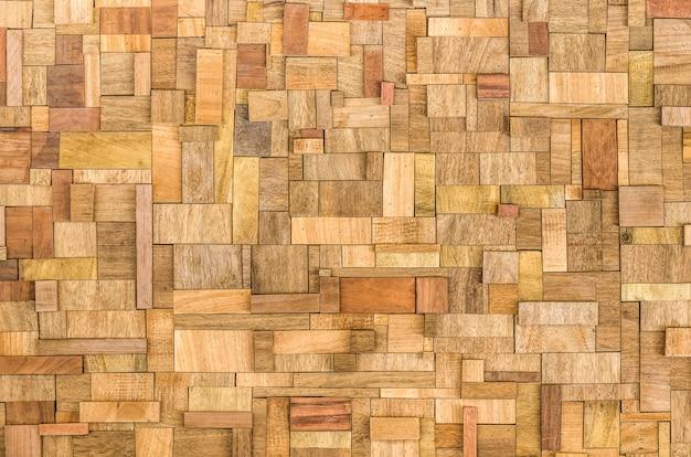 木製のブロックテクスチャ背景 Premium写真