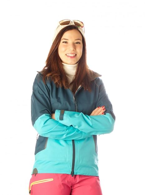 女性ハイカー Premium写真