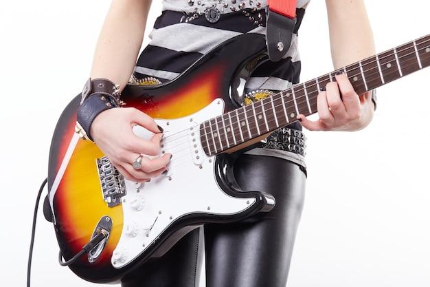 Рок гитарист Premium Фотографии
