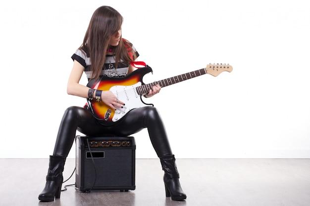 ロックギター奏者 Premium写真