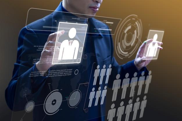 Бизнес администрирование виртуальной панели. Premium Фотографии