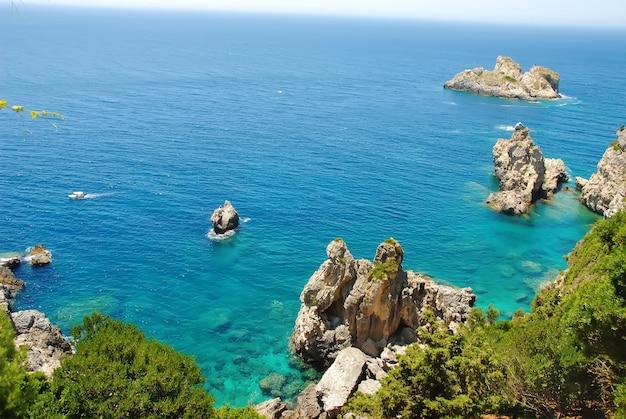 コルフパレオカストリッツア、ギリシャ Premium写真