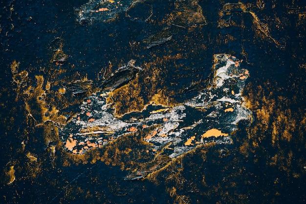 青い黄金のビンテージアートの背景 Premium写真