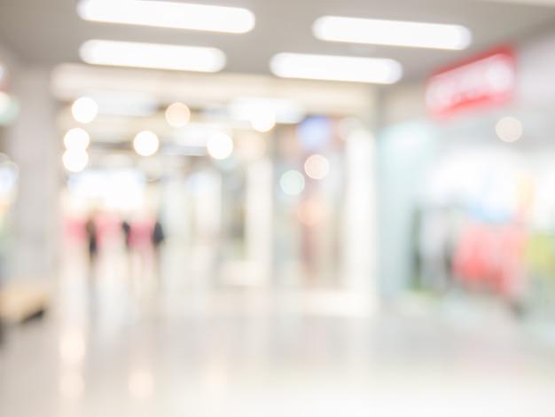 ショッピングモール、フォーカスの浅い深さの抽象的な背景。 Premium写真