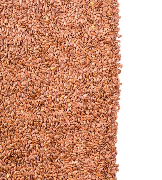 Текстура жареного коричневого льна или льняного семени Premium Фотографии