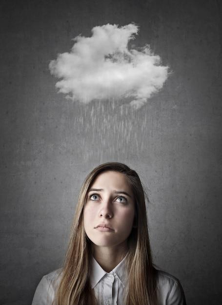 Дождливый грустный день Premium Фотографии