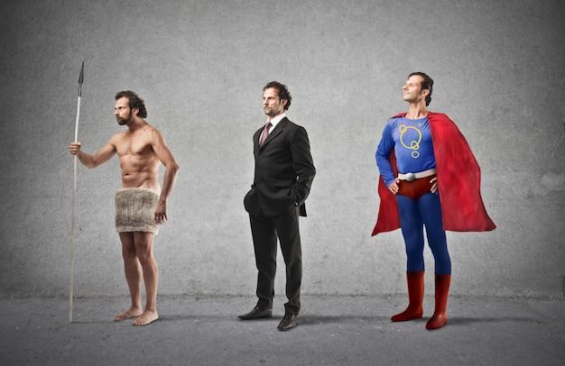 男の発達と進化 Premium写真