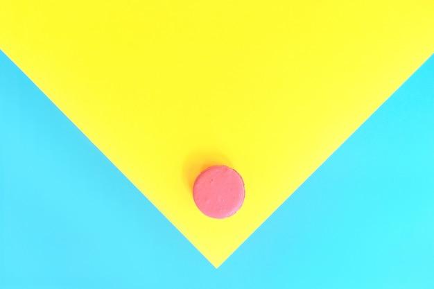 甘いピンクのマカロン Premium写真