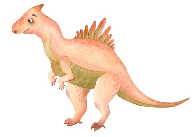Акварельные динозавры тиранозавр Premium Фотографии