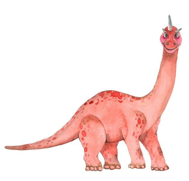 Акварельные динозавры бронтозавра Premium Фотографии
