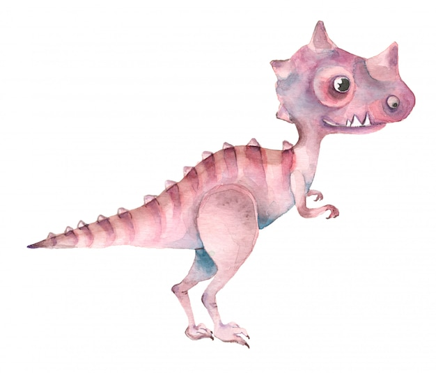 水彩恐竜ティラノサウルス Premium写真