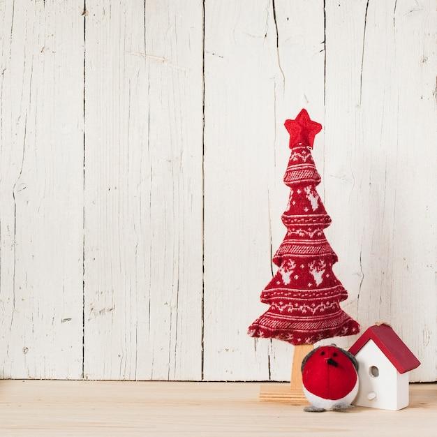 Рождественская композиция с пустым пространством слева Бесплатные Фотографии