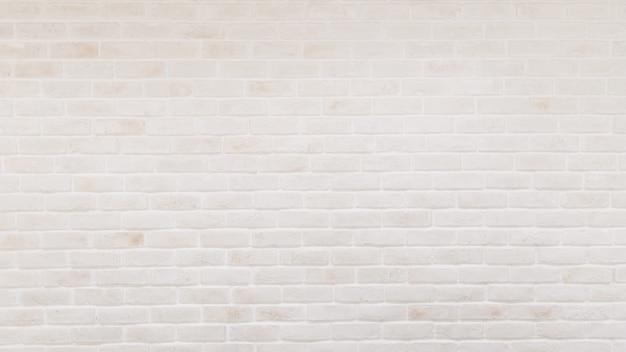 白いレンガの壁のテクスチャ背景のパノラマ Premium写真