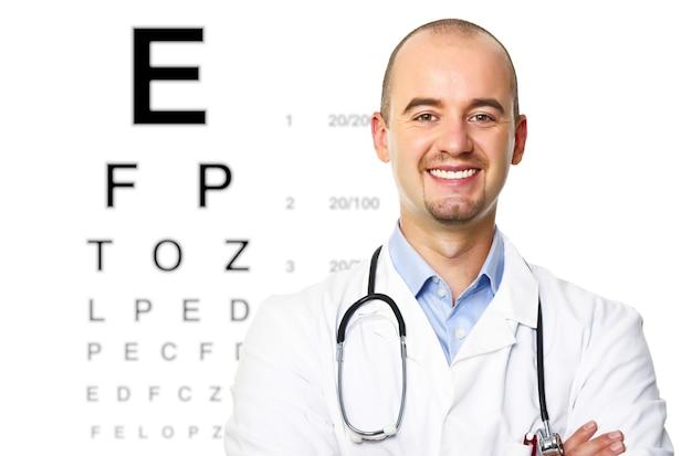 検眼医の肖像 Premium写真