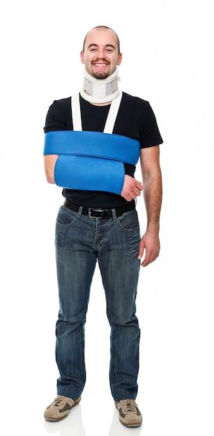 Раненый человек Premium Фотографии