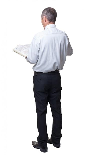Бизнесмен с книгой Premium Фотографии