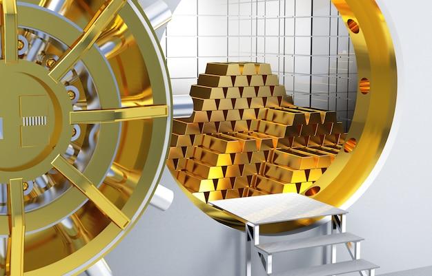 Золотые слитки Premium Фотографии