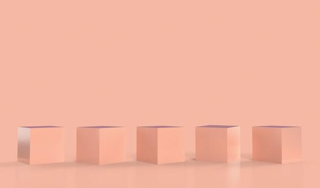 製品展示用の木製台座は、展示用のコピースペースと調和しています。 Premium写真
