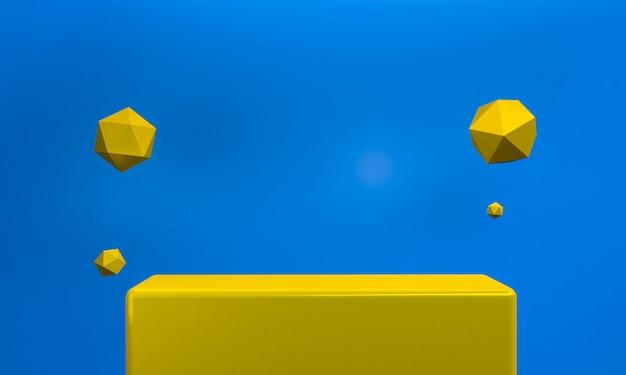シンプルな抽象的な幾何学的図形の背景 Premium写真