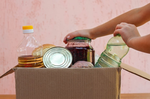 食物と一緒にボックス Premium写真
