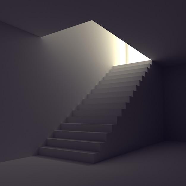 光への階段 Premium写真