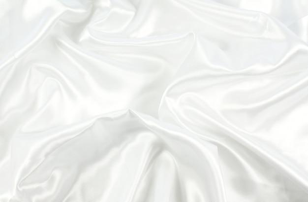 ホワイトサテンのテクスチャ背景 無料写真