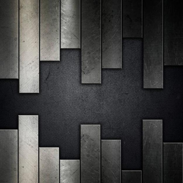 抽象的なグランジ金属の背景 無料写真