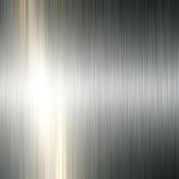 ブラシをかけられた金属の背景 無料写真