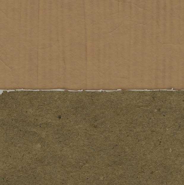 段ボールの破れた紙の質感とグランジ背景 無料写真