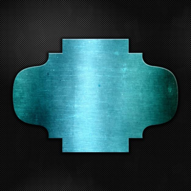 カーボンファイバーの質感に青いグランジ金属 無料写真