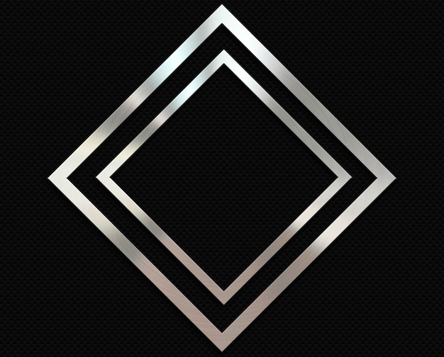 Карбоновый фон с металлической алмазной рамкой Бесплатные Фотографии