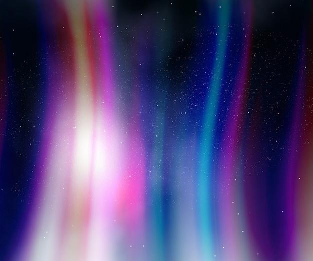 Ночное небо с огнями авроры Бесплатные Фотографии