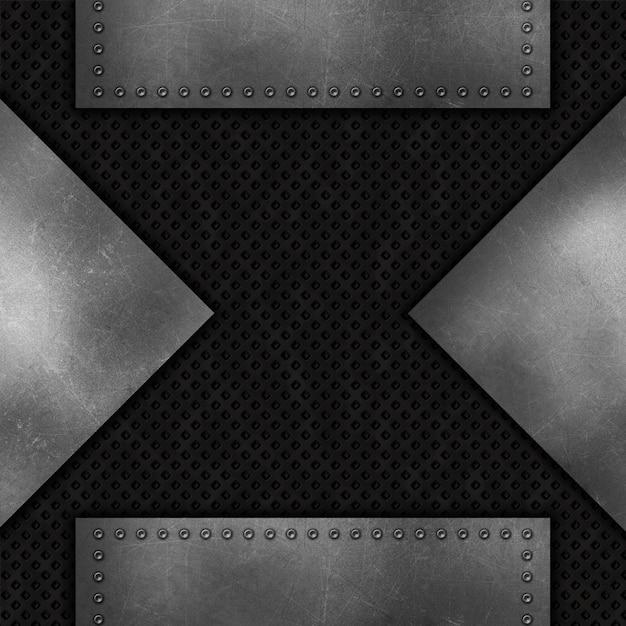 グランジ抽象的な金属の背景 無料写真