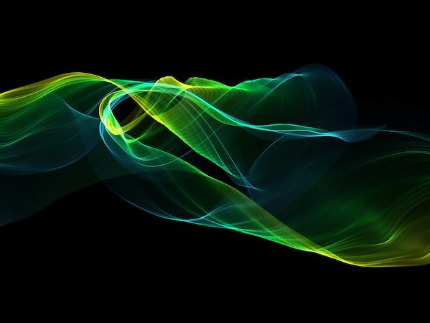流れるようなラインと抽象的な背景 無料写真