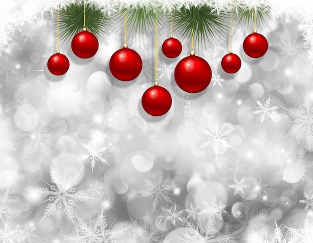 クリスマスの雪とつまらないもの Premium写真