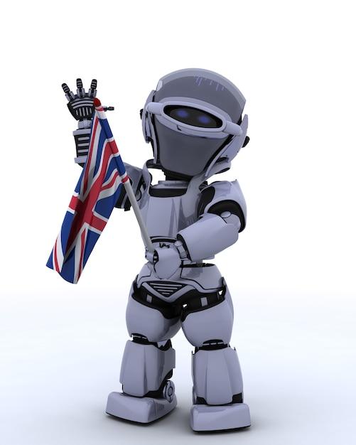 Робот с флагом великобритании Бесплатные Фотографии