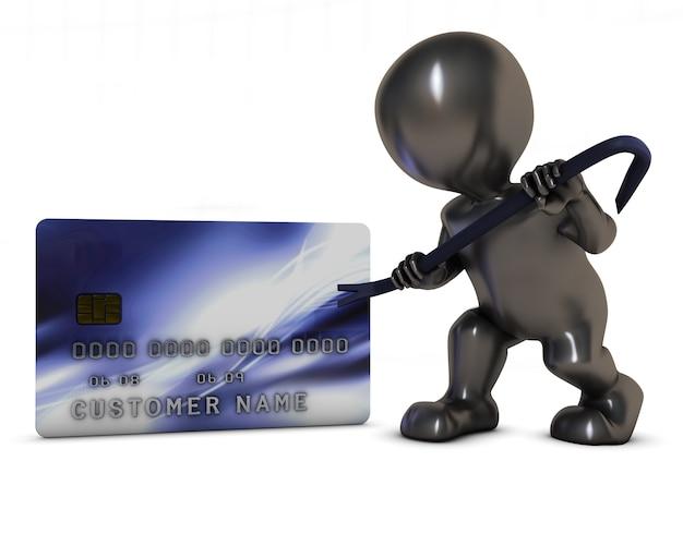 Вор пытается украсть кредитную карту Бесплатные Фотографии