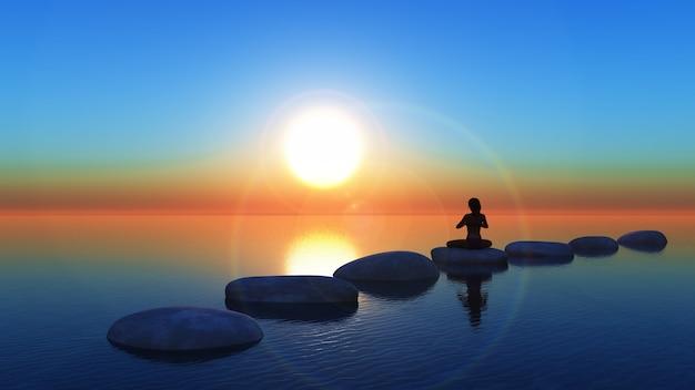 瞑想 無料写真