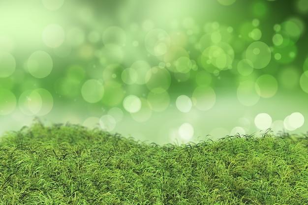 ボケ効果と緑の草 無料写真