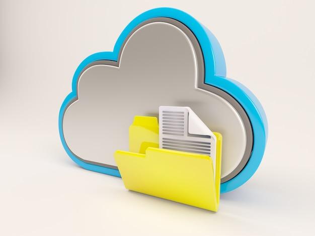 Облако с желтой папке Бесплатные Фотографии