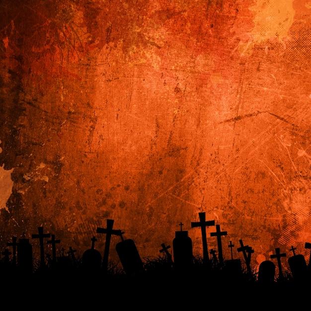 ハロウィーンの墓 無料写真