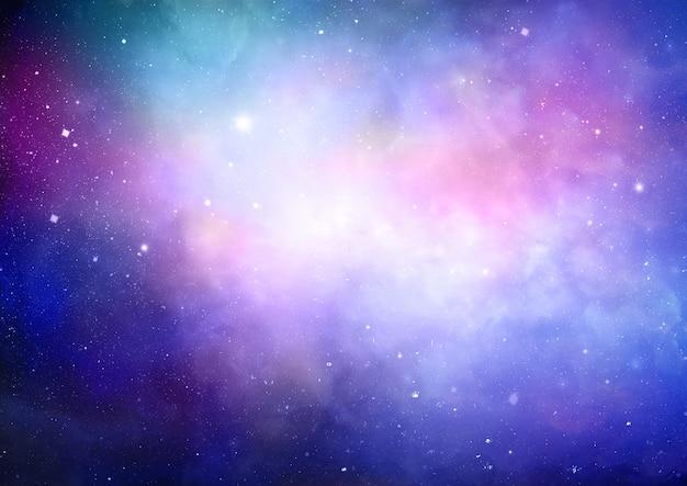 カラフルな星雲と抽象的な空間の背景 無料写真