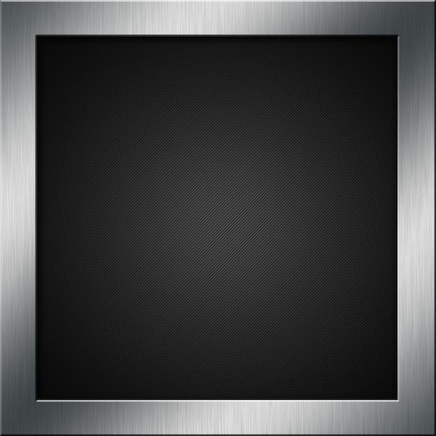 Углеродные волокна фон с щеткой металлической рамой Бесплатные Фотографии