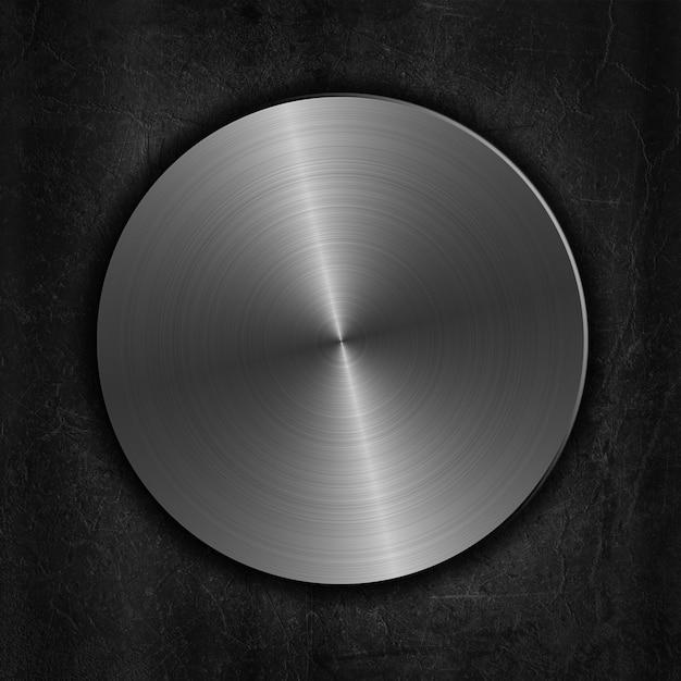 銀の磨かれた金属ボタンは、その背景に 無料写真
