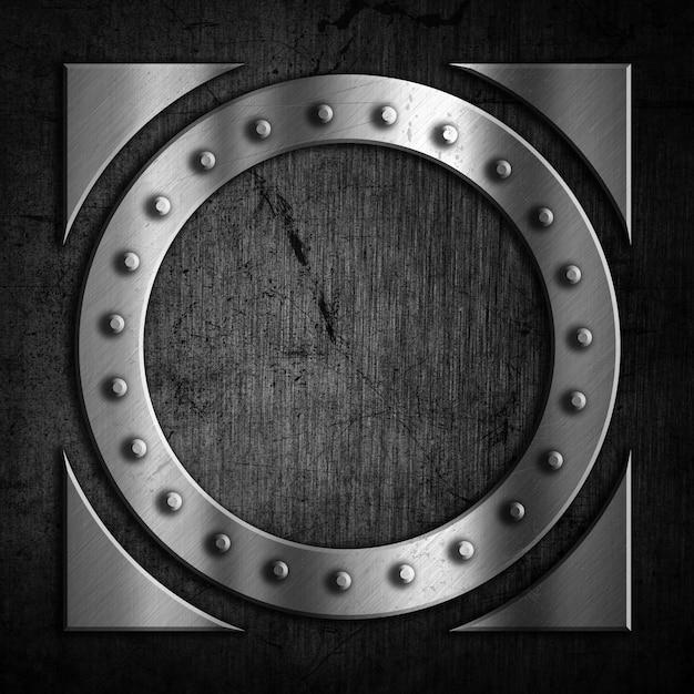 グランジデザインの抽象的な金属の背景 無料写真
