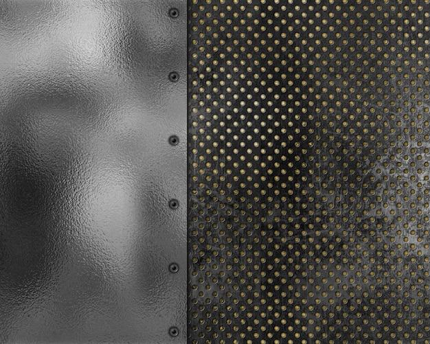 グランジスタイルの金属質のテクスチャの背景 無料写真