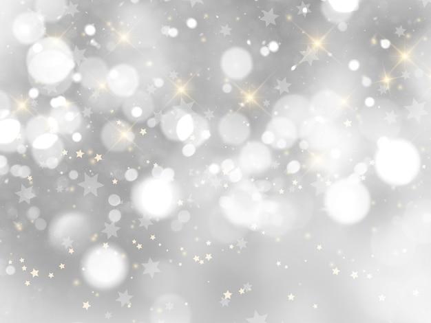 シルバークリスマスの背景 無料写真