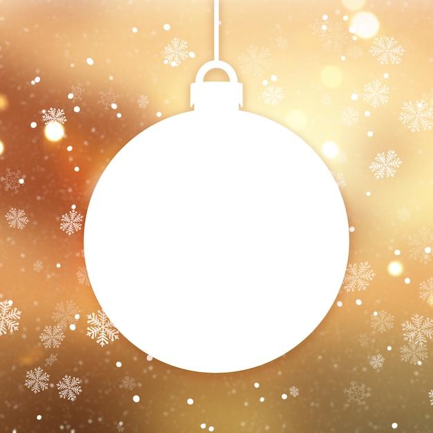 クリスマス安ピカとゴールデンクリスマスの背景 無料写真