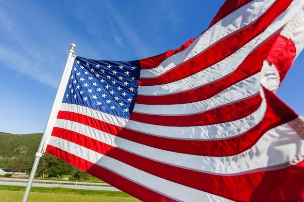 アメリカ合衆国の旗 Premium写真