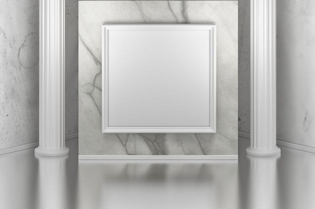Художественная галерея с колоннами Premium Фотографии